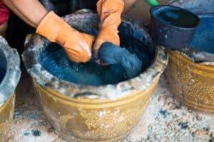 Bucket of dye